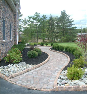 Beautiful Landscape, paver walkway Landscaping Services, south brunswick, nj